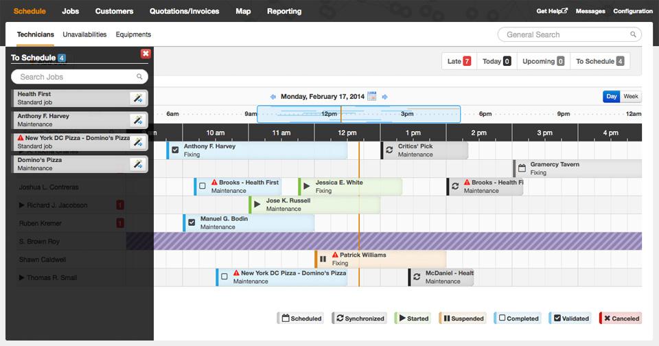Synchroteam software de gestión de servicios